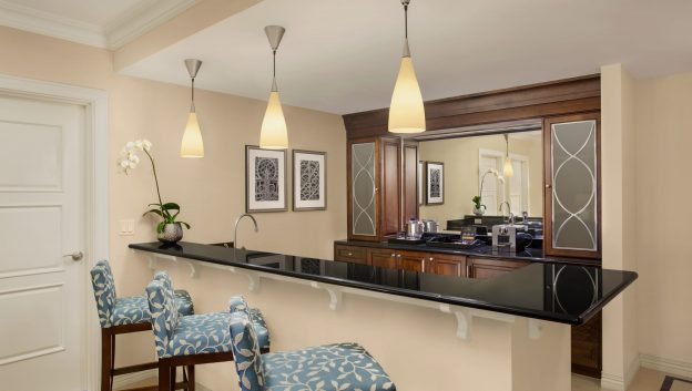 Luxury Suite wet bar area