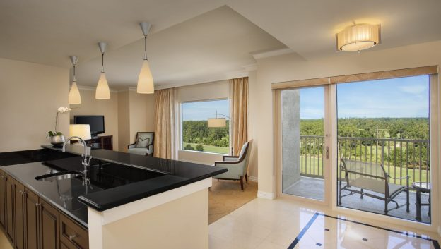 Waldorf Suite kitchenette and living area