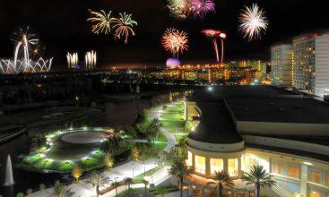 fireworks over bonnet creek