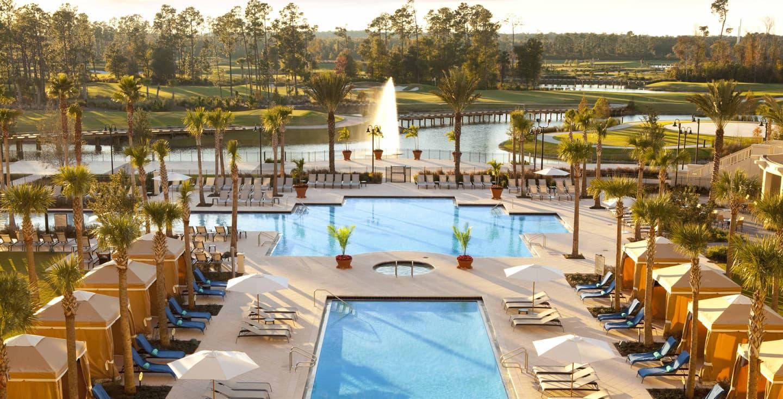 Waldorf Astoria Orlando pools and private cabanas