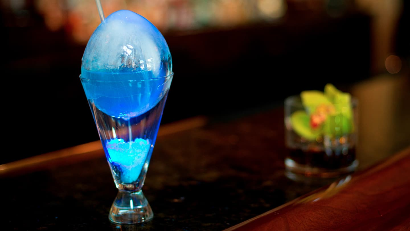 Dining - Peacock Egg cocktail