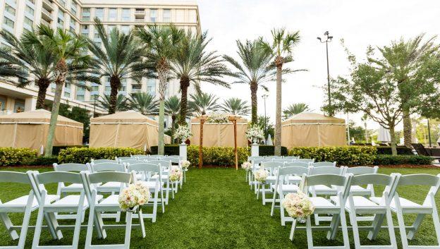 intimate wedding on cabana lawns