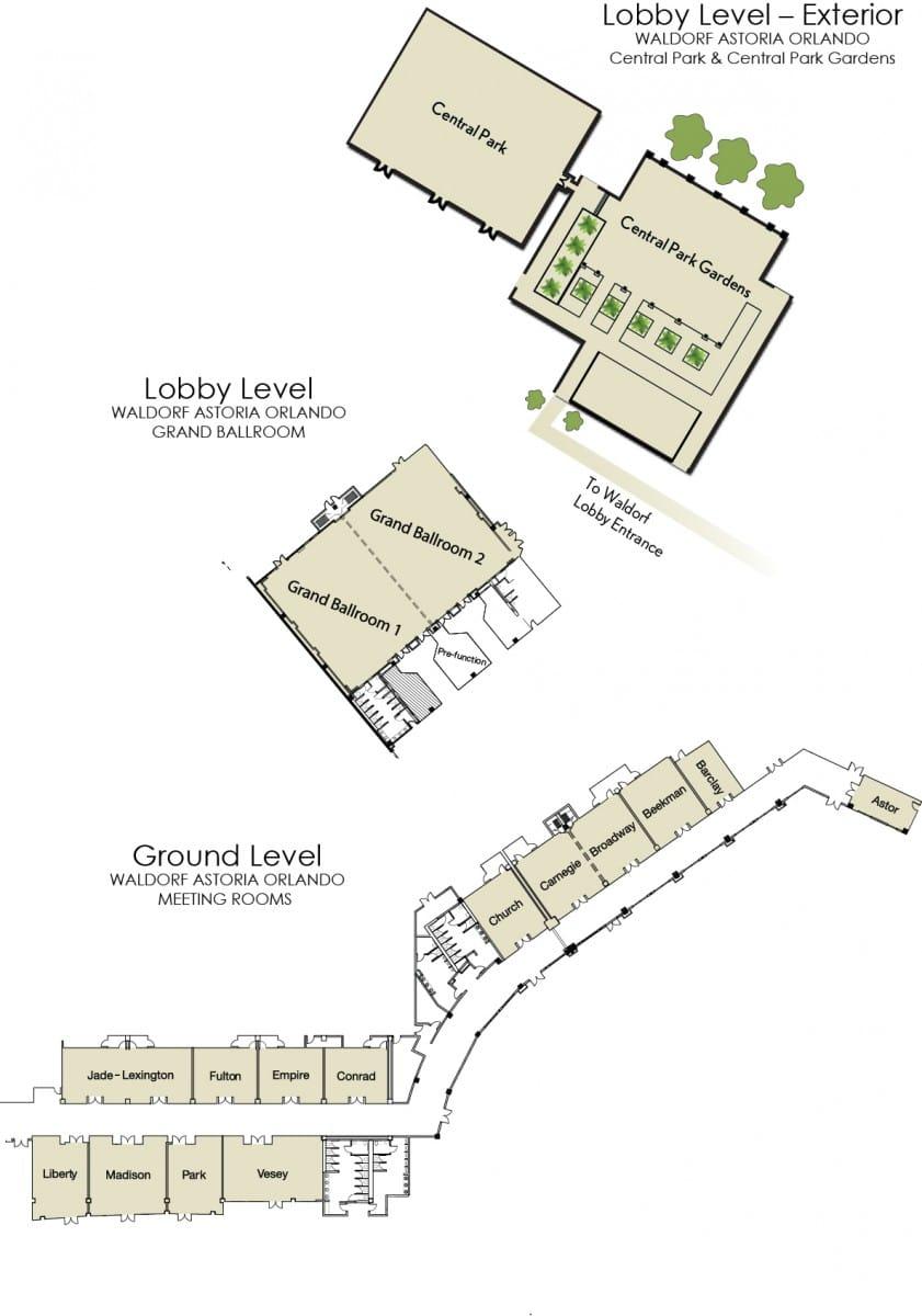 orlando meeting venues charts floorplans waldorf astoria orlando wao floorplans updated visual