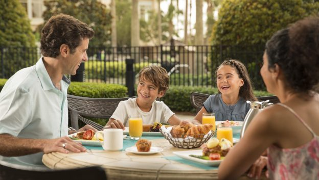 family dining at Harvest