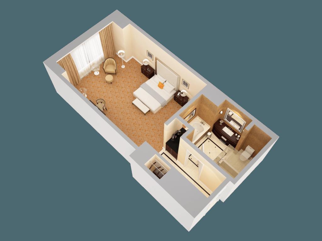 Waldorf Astoria Orlando 3D Floor Plans – King Of Queens House Floor Plan