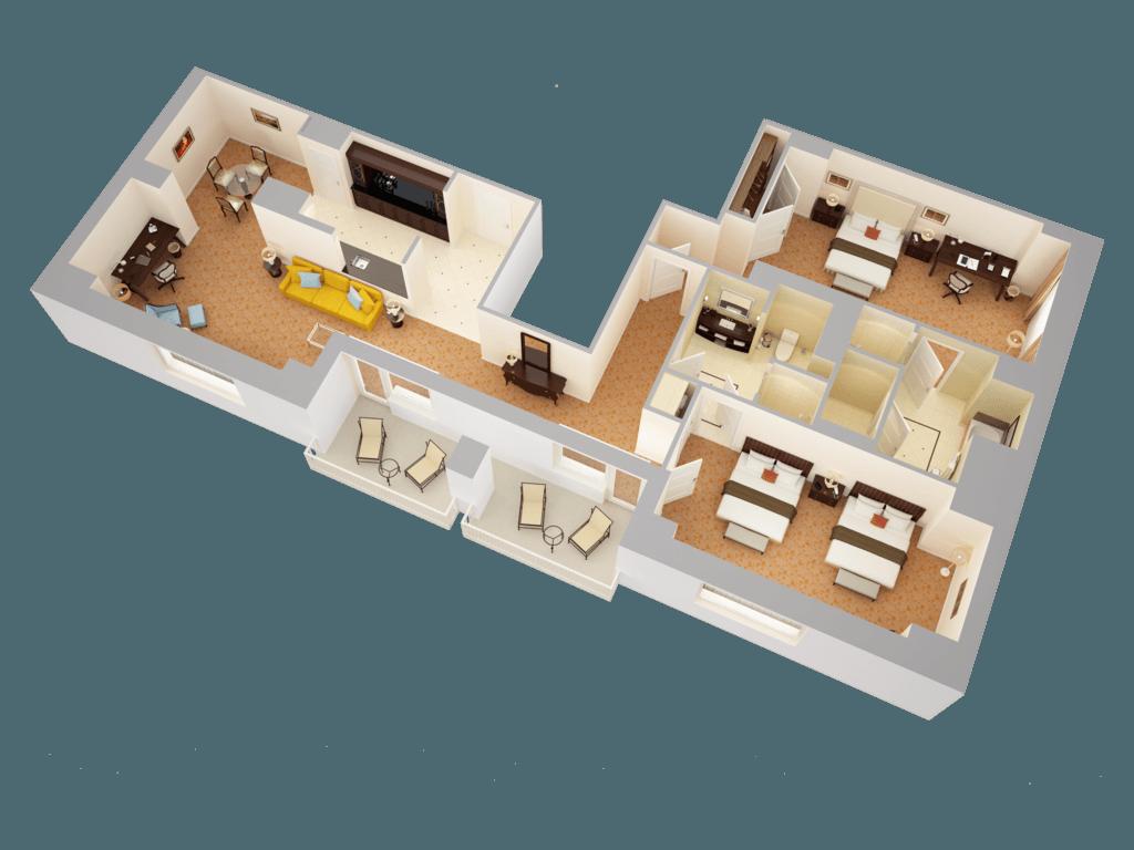 Governor's Suite - Waldorf Astoria Orlando on vastu plans, architects plans, luxury plans, story house plans, 3 storey house plans, bedroom plans,