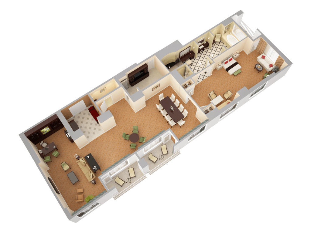 waldorf astoria orlando 3d floor plans presidential suite view 2