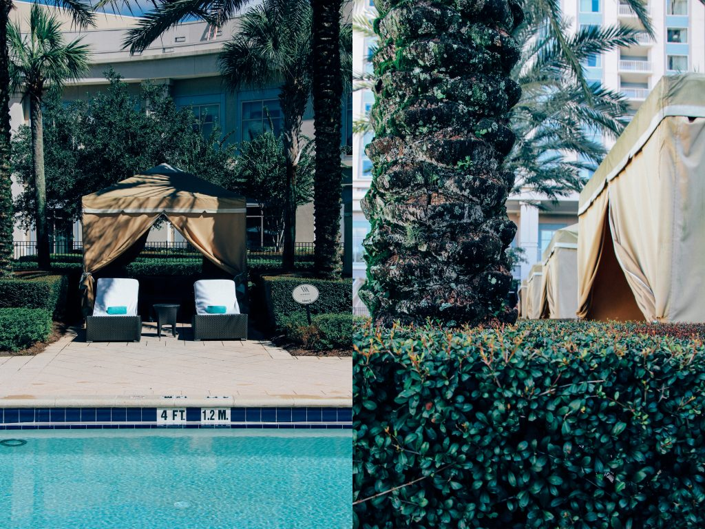poolside private cabanas