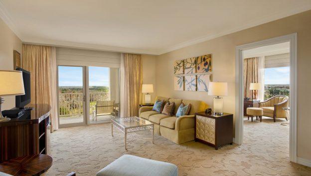 luxury suite living room and bedroom