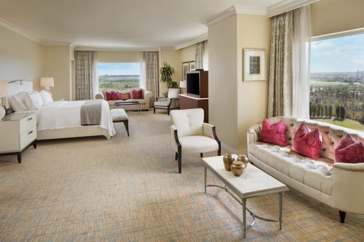 Guest room photos waldorf astoria orlando for Presidential suite waldorf astoria
