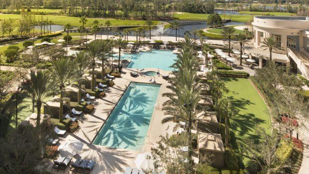 Aerial view of Waldorf pool