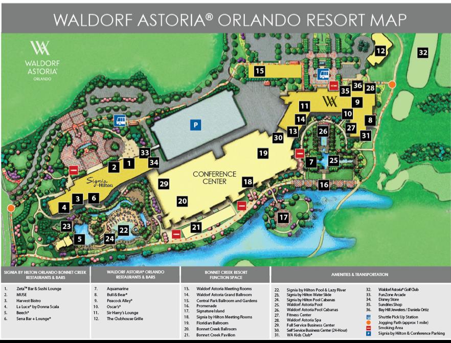 Waldorf Astoria Orlando Resort Map